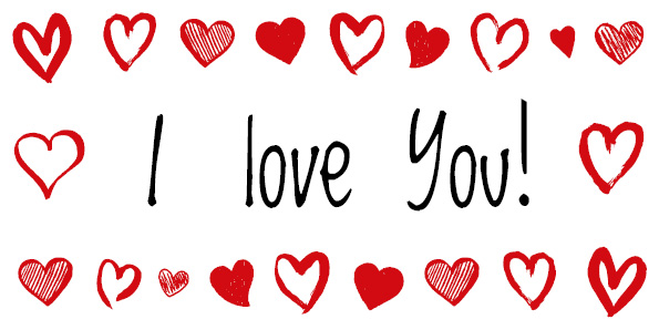 Bon d'achat I love you